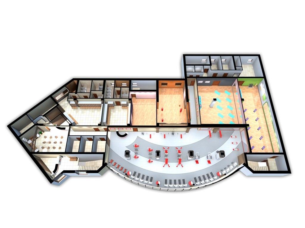 Дизайн интерьера фитнес-центра Эскимо 23