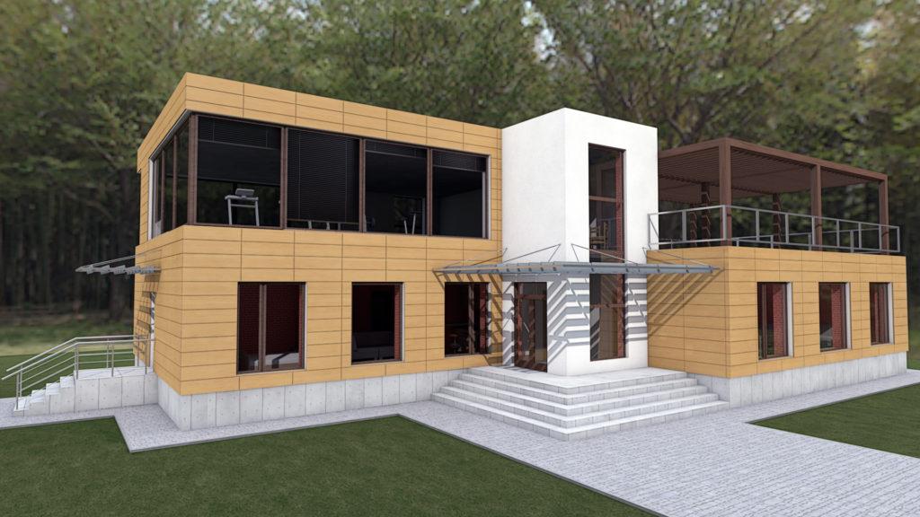 Гостиничный комплекс Краснодарский край Кабардинка проект Modart